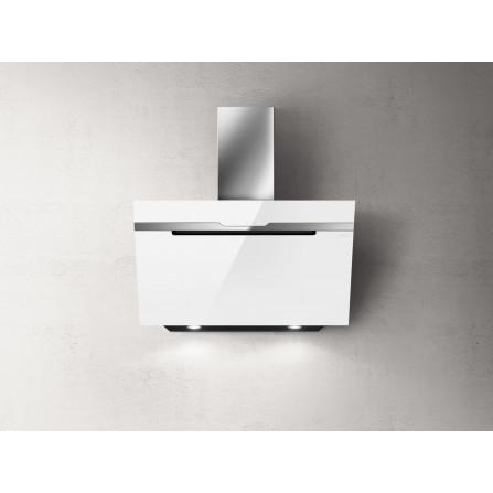 Elica Cappa a Parete Majestic PRF0124236A Vetro Bianco e Acciaio Inox da 90cm