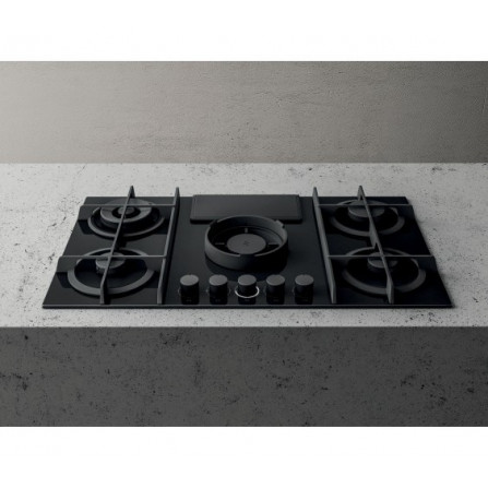 Elica Piano Cottura a Gas Nikolatesla Flame PRF0147740A Vetro Nero da 88cm