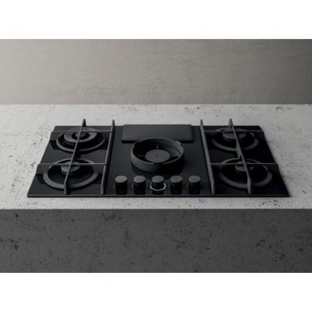 Elica Piano Cottura a Gas Nikolatesla Flame PRF0147741A Vetro Nero da 88cm  SPEDIZIONE IMMEDIATA