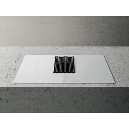 Elica Piano Cottura ad Induzione Nikolatesla Libra PRF0147775 Vetro Bianco da 83cm