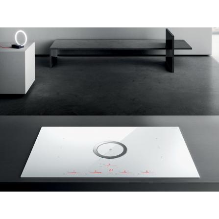 Elica Piano Cottura ad Induzione Nikolatesla Switch PRF0146213A Vetro Bianco da 83cm