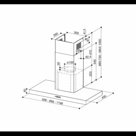Vasca sottotop in acciaio inox AISI304 spazzolato, 34 cm. Serie Alba UM34 Smeg