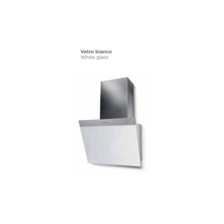 Faber Cappa a Parete Daisy 330.0612.371 Vetro Bianco da 80cm