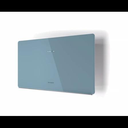 Faber Cappa a Parete Glam Fit Zero Drip 330.0615.655 Vetro Blu Polvere da 80cm
