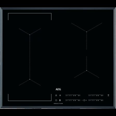 AEG Piano Cottura ad Induzione IKE64443FB Vetro Nero da 60cm