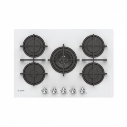 Candy Piano Cottura a Gas CVG74WPW - 33802749 Vetro Bianco da 75cm - Pronta Consegna