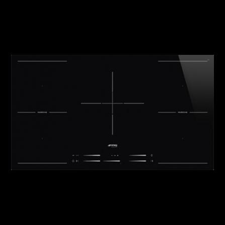 Smeg Piano Cottura ad Induzione SI2M7953D 5 Zone Touch Control 90 cm Nero   Pronta Consegna