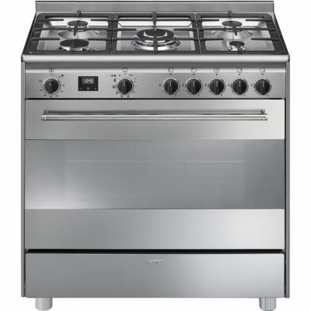 Smeg Cucina a Gas BG91PX9-1 Acciaio Inox da 90cm