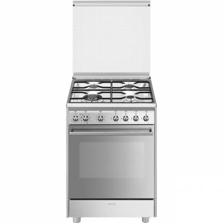 Smeg Cucina a Gas CX68MDS8 Acciaio Inox da 60cm