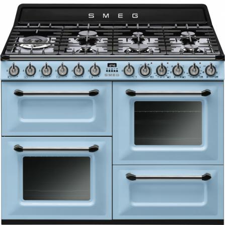 Smeg Cucina a Gas TR4110AZ Azzurro da 110x60cm - Pronta Consegna