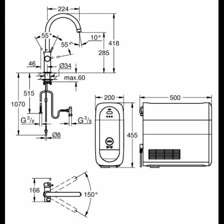 Lavatrice a libera installazione a carica frontale A+++ 9 kg FWG91284WIT Whirlpool