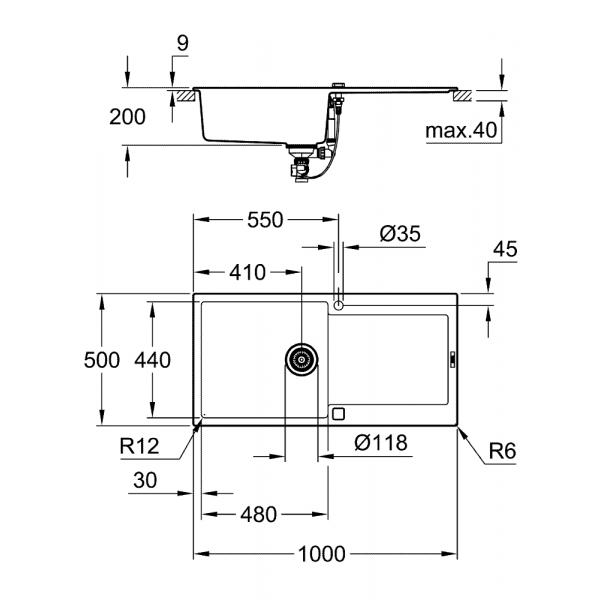 Lavastoviglie a scomparsa totale 60 cm 13 Coperti Classe A+ STE531 ...