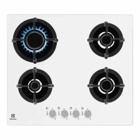 Electrolux Piano Cottura a Gas EGG6427W Griglie Ghisa 60cm 4 Fuochi Bianco
