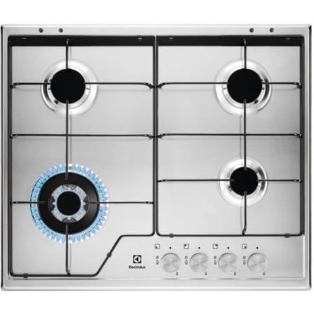 Electrolux Piano cottura a Gas KGS6434SX 4 fuochi Finitura Inox 60 Cm