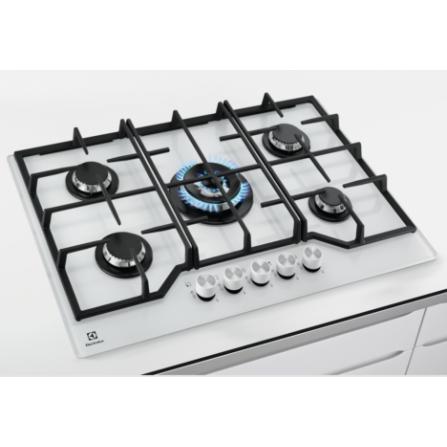 Electrolux Piano Cottura a Gas KGG7536W 5 Fuochi Bianco