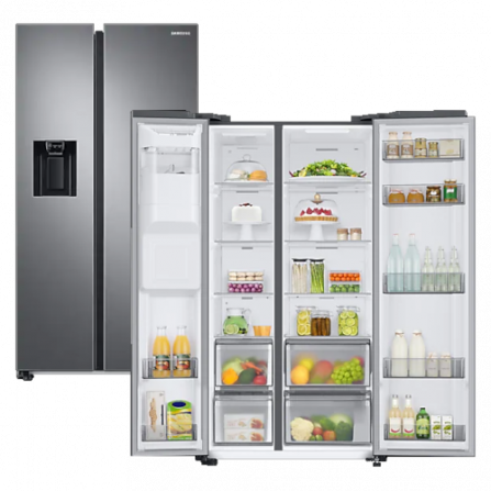 Samsung Frigorifero Side by Side RS68A8821S9/EF Silver Total no Frost - Pronta Consegna