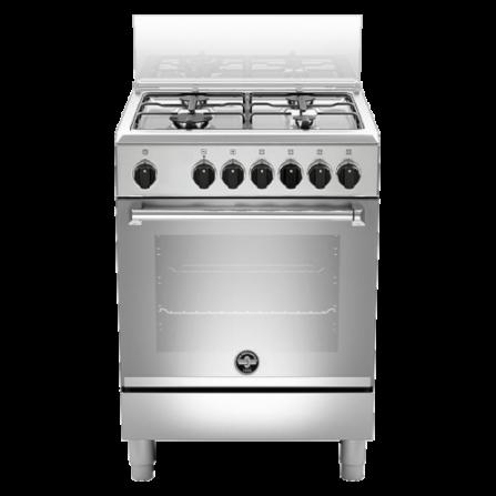 La Germania Cucina AMN664EXV 60x60 4 Fuochi Forno Elettrico Inox
