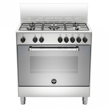 La Germania Cucina AMN855EXV 80x50 5 Fuochi Forno Elettrico Inox