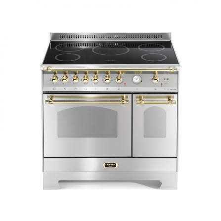 Lofra Cucina RSD96MFTE/5I Dolce Vita Acciaio 90X60