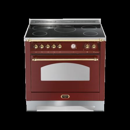 Lofra Cucina RRG96MFT/5I Dolce Vita Rosso Burgundy 90X60