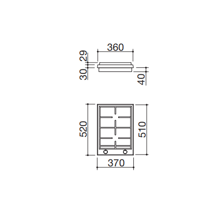 Barazza Piano Cottura a Gas Domino 1PTI2 Thalas incasso da 37- Richiedi Preventivo Personalizzato