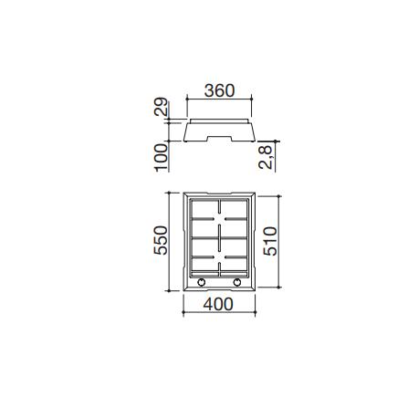 Barazza Piano Cottura Domino 1PTF2 Thalas freestanding da 40- Richiedi Preventivo Personalizzato