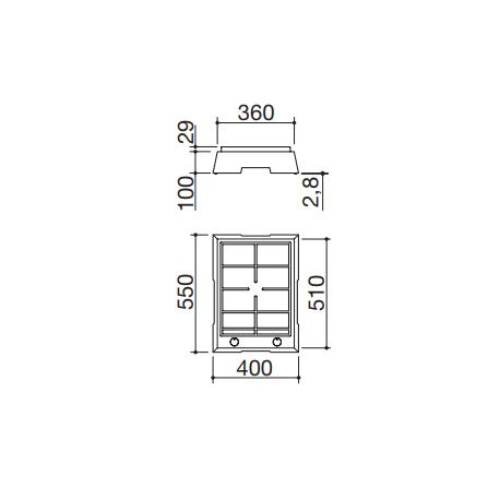 Barazza Piano Cottura Domino 1PTF1 Thalas freestanding da 40- Richiedi Preventivo Personalizzato