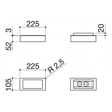 Barazza Accessorio 1PPBN Portaprese da top basculante- Richiedi Preventivo Personalizzato