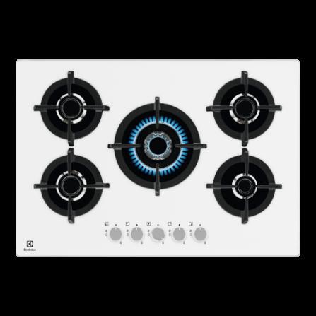 Electrolux Piano Cottura a Gas EGG7537W Cristallo Bianco 75cm