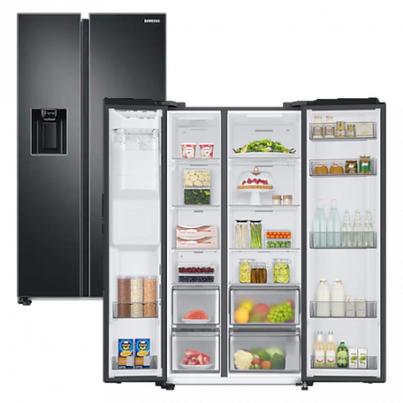 Samsung Side by Side RS68A8821B1/EF Inox Black Total No Frost Premium