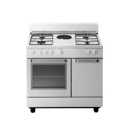 Tecno Gas Cucina D921WS Bianca 90x60