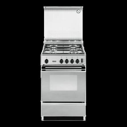 De Longhi Cucina SGGX554NED 50x50 Inox 4 Fuochi - Pronta Consegna