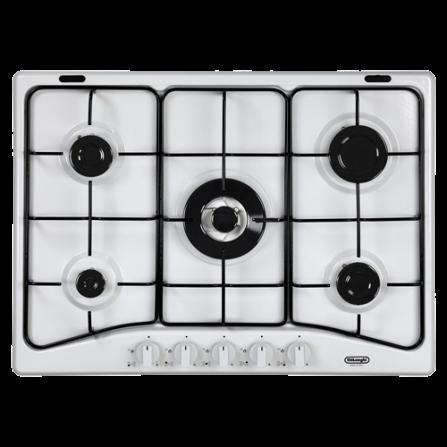 De Longhi Piano Cottura a Gas YBF57ASV 70cm 5 Fuochi Bianco