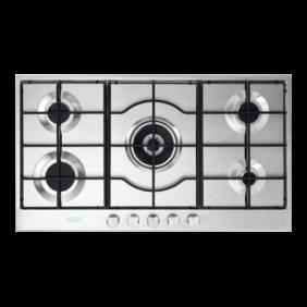 De Longhi Piano Cottura a Gas SLF590LX Inox 90cm