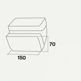 Falmec Accessorio Curva verticale / rettangolare KACL.386 150x70