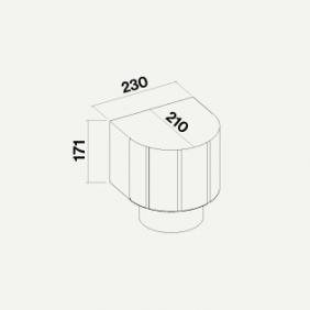 Falmec Accessorio Kit unità filtrante Carbon.Zeo esterna per cappe a parete KACL.948 IF Kit unità filtrante Carbon.Zeo per cappe