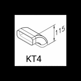 Airone Accessorio Curva Rettangolare Verticale AICURETVERT9000002