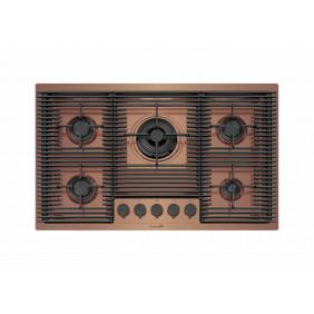 Foster Piano Cottura a Gas Milanello 7682008 Copper 80cm 5 Fuochi