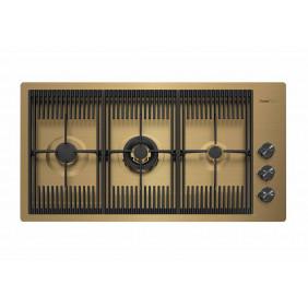 Foster Piano Cottura a Gas 7680009 Milanello 3 Fuochi Gold 80cm