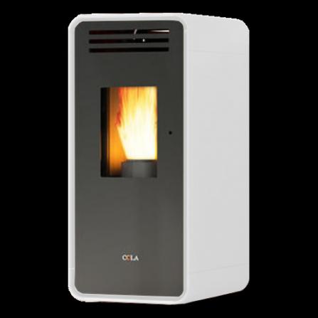 Stufa AMBRA ventilata in acciaio verniciato colore Bianco potenza Termica Nomi LA11CR0Y Cola  - Pronta Consegna
