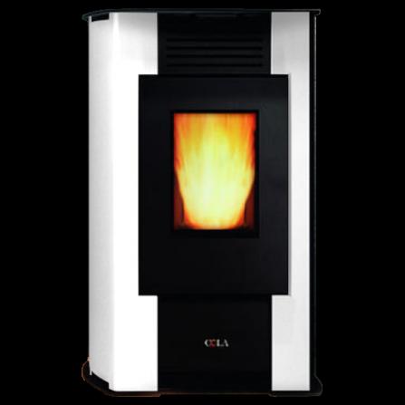 Cola Stufa LA22KR0Y AURORA ventilata in acciaio verniciato colore Bianca - Pronta Consegna