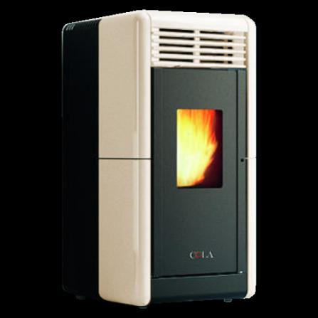 Stufa CALLA Canalizzabile colore Avorio ventilata top e frontalino in maiolica LA2LF10Y Cola  - Pronta Consegna