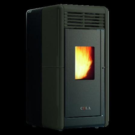 Stufa CALLA Canalizzabile colore Nera ventilata top e frontalino in maiolica LA2LF90Y Cola  - Pronta Consegna