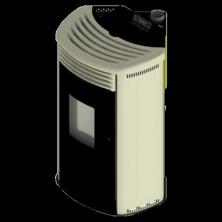 Stufa MIMOSA Canalizzabile ad angolo colore Avorio ventilata LAFNF10Y Cola  - Pronta Consegna