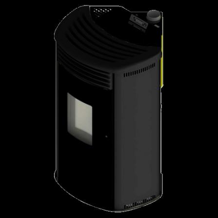 Stufa MIMOSA Canalizzabile ad angolo colore Nera ventilata LAFNF90Y Cola  - Pronta Consegna