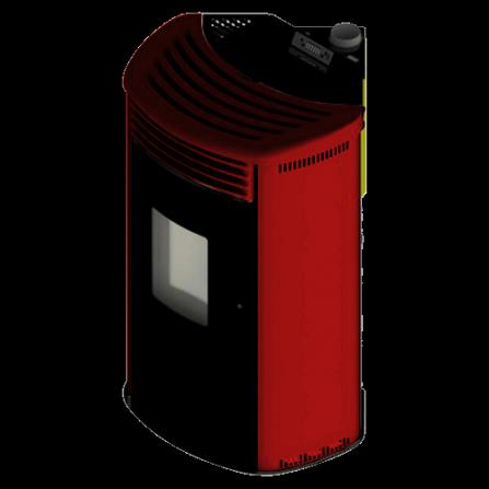 Stufa MIMOSA Canalizzabile ad angolo colore Bordeaux ventilata top e griglia LAFNF30Y Cola - Pronta Consegna