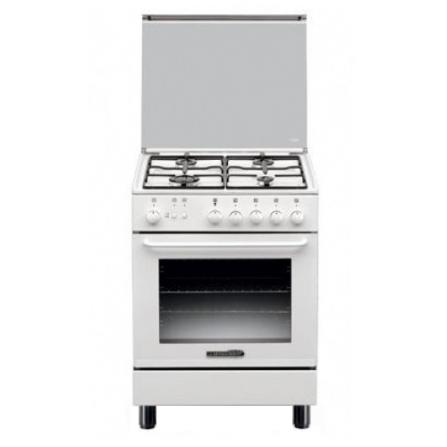Cucina A Gas Bianca 4 fuochi e forno a gas La Germania S640 21 W S64021W  - Pronta Consegna