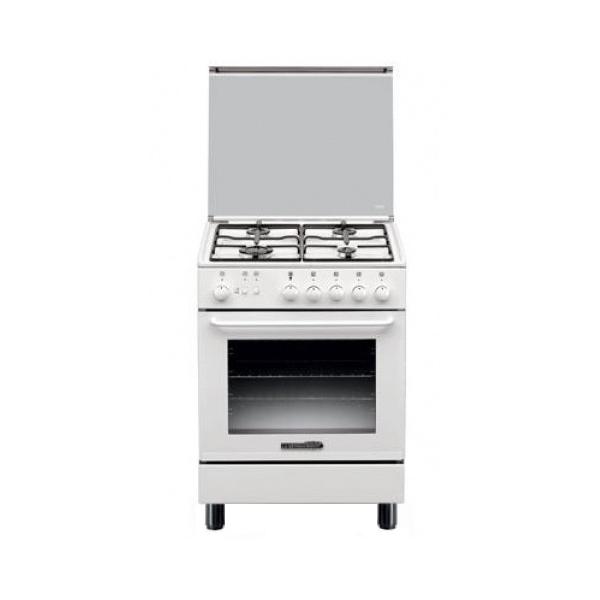 Cucina a gas bianca 4 fuochi e forno a gas la germania s640 21 w s64021w - Cucine a gas la germania ...