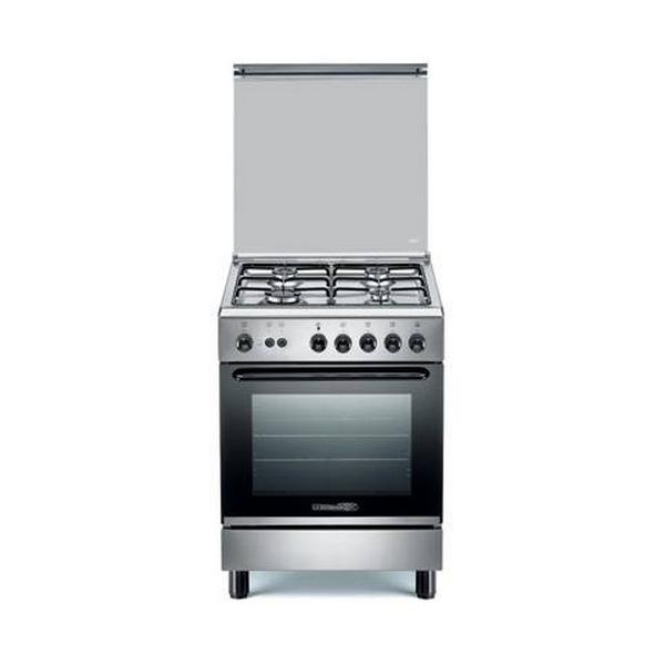 Cucina a gas inox 4 fuochi e forno a gas la germania s640 21 x s64021x - Cucine a gas la germania ...