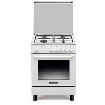 Cucina a Gas bianca 4 fuochi a gas forno elettrico statico La Germania S640 41 WT S64041WT  - Pronta Consegna